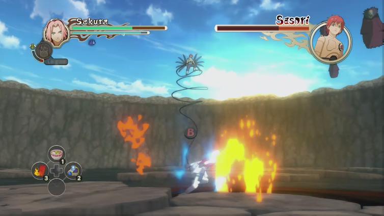 Kavliers Delikt playing Naruto Shippuden: Ultimate Ninja Storm 2